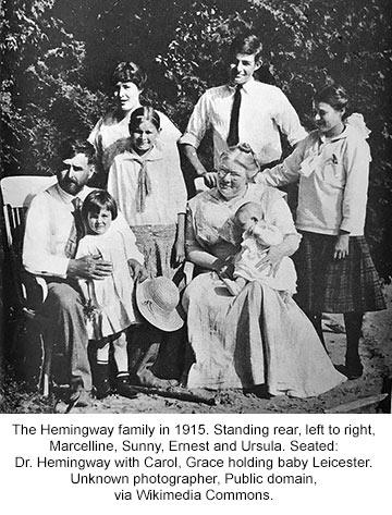 the Hemingway Family in 1915