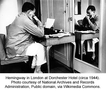 Hemingway in London, 1944