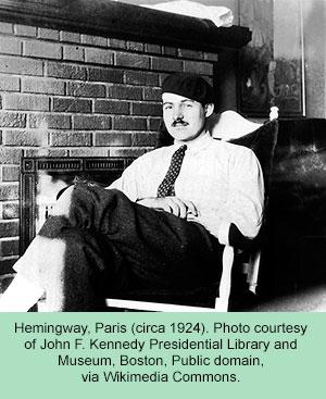 Hemingway in Paris (circa 1924)