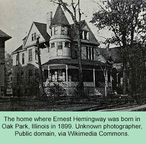 Oak Park, Illinois home where Hemingway was born