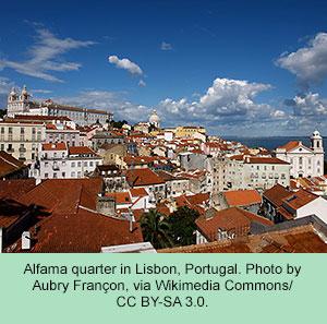 Alfama Quarter, Lisbon, Portugal