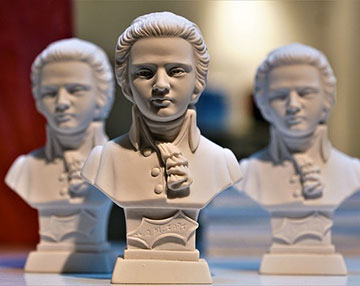 busts of Mozart