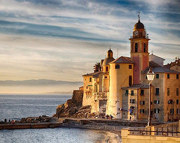 a scene from Liguria, Northern Italy