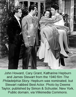 a scene from 'Philadelphia Story'