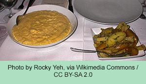 Polenta and Artichokes dinner