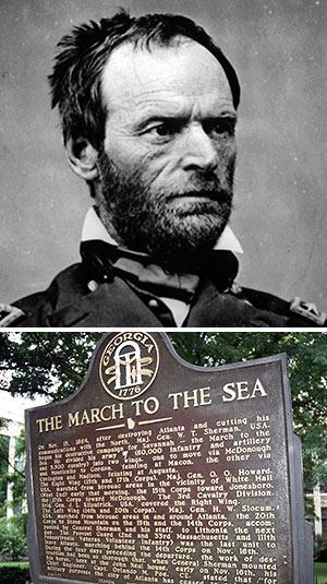 William T. Sherman and Georgia marker