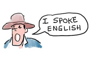 Speaking English in a film