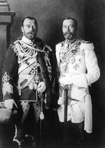 Russia's Tsar Nicholas II and Great Britain's King George V