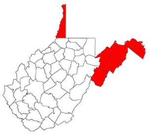 West Virginia's panhandles