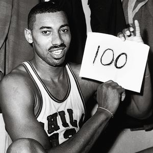 Wilt Chamberlain on the night he scored 100 points in the NBA