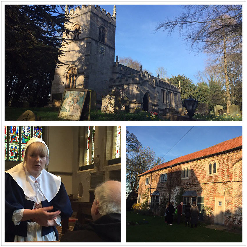 All Saints' Church and historian Sue Allen