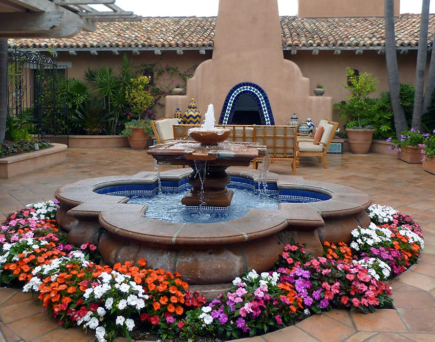 Rancho Valencia water fountain