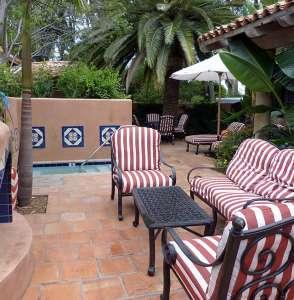 private backyard at Rancho Valencia