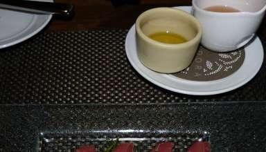 a dish at the Veladora