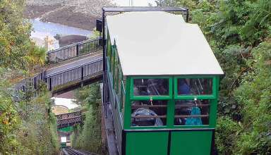 railway car of the Lynton & Lynmouth Cliff Railway