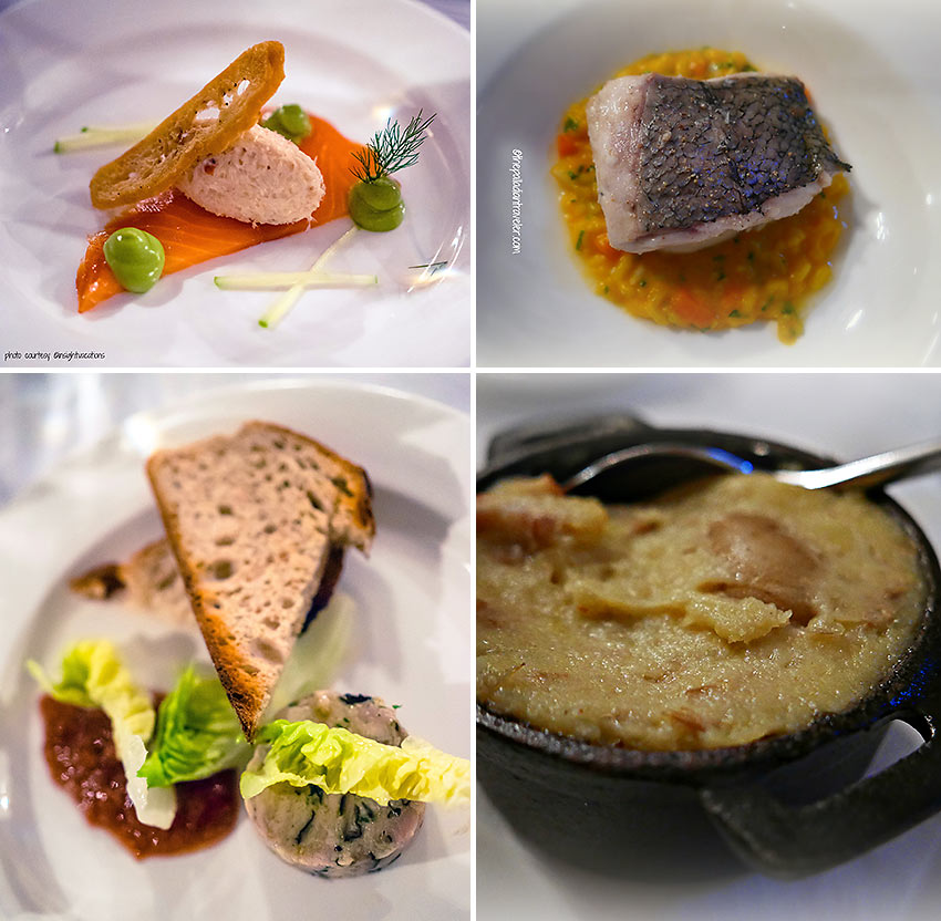 dishes prepared by Chef Graham Neville at the FortyOne restaurant