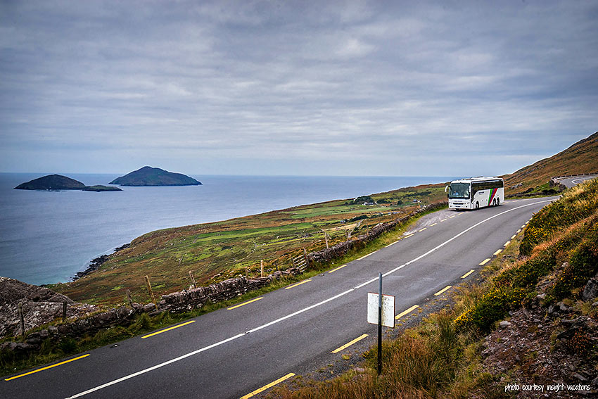 bus on a road at the Ring of Kerry