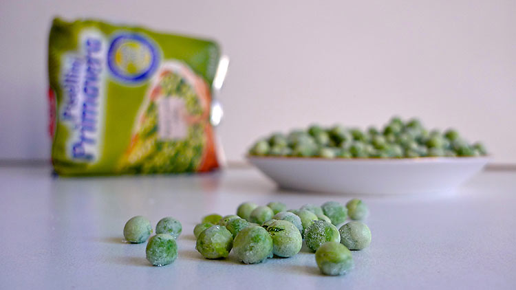 frozen baby spring peas
