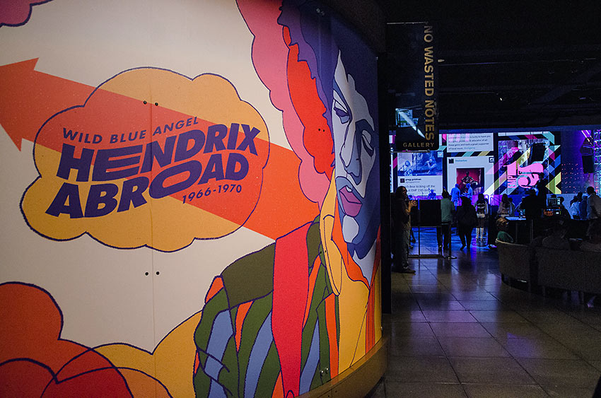 Hendrix exhibition at Seattle's Museum of Pop Culture