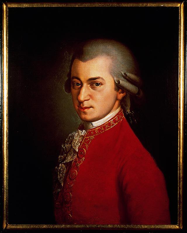 portrait of Mozart
