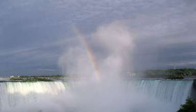 rainbow over the Niagara Falls, Niagara Park