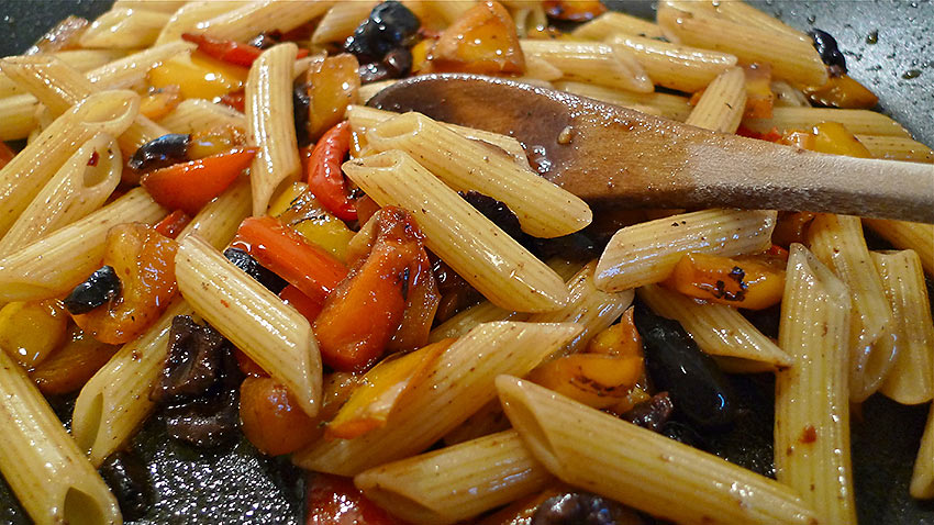 Penne Peppered Pranzo cooking