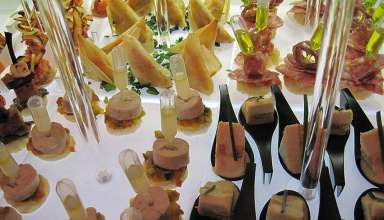 elaborate tapas on display