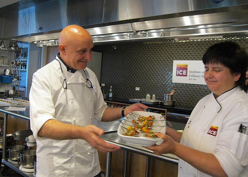 Chef Toño Pérez shows off some of his tapas