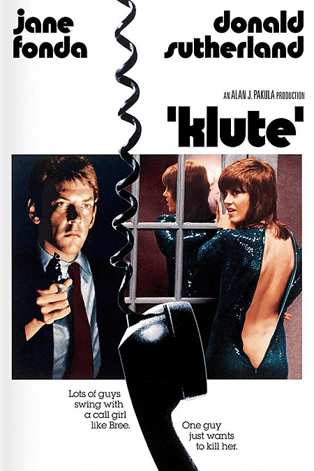 Klute movie poster/DVD cover