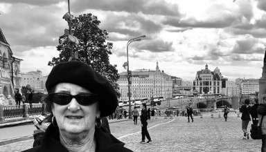 Sue Palmer in Red Square, Moscow