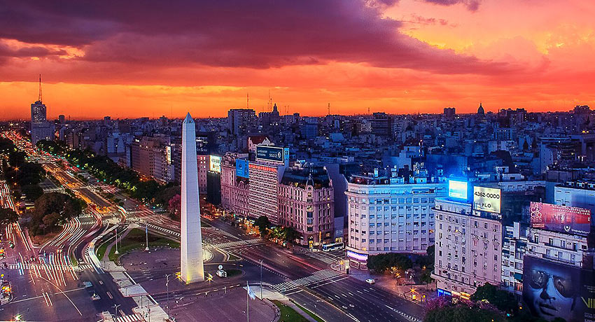 Sunset at Buenos Aires