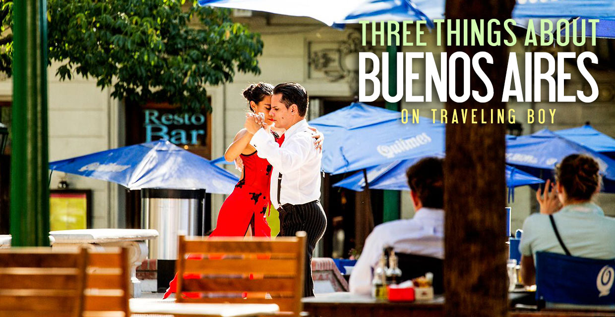 dancing the tango in Buenos Aires