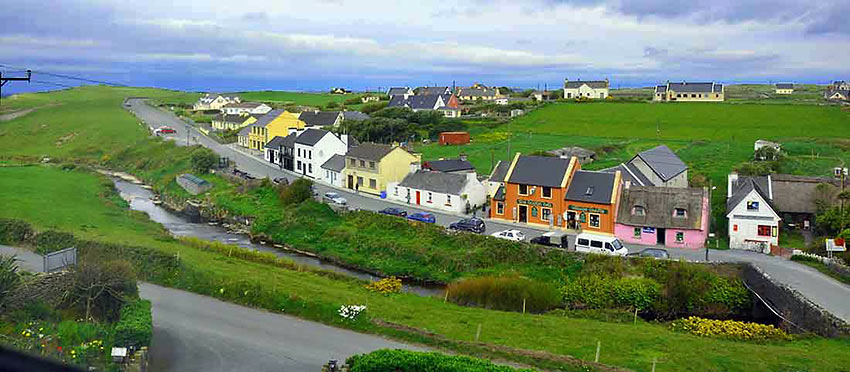 the town of Doolin in County Clare