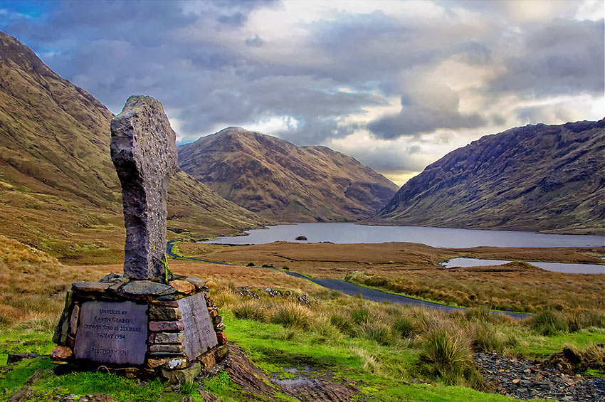 Doolough Tragedy Cross in County Mayo