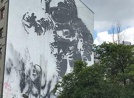 graffiti on a building, Kreuzberg, Berlin