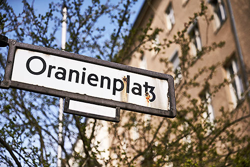Oranienplatz street sign