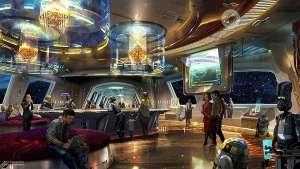 artist's rendering of the Star Wars Hotel