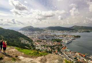 panoramic view of Bergen