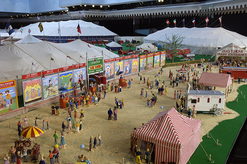 miniature model of the fictional Howard Bros. Circus