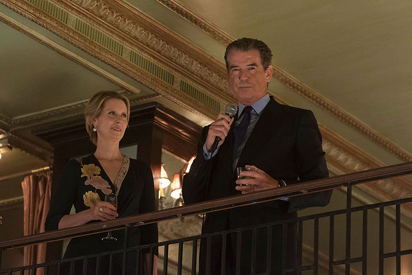 Cynthia Nixon as Ethan's wife Judith and Pierce Brosnan as her husband Ethan