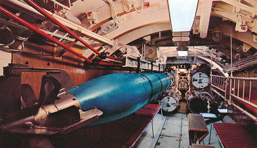 interior of U-995