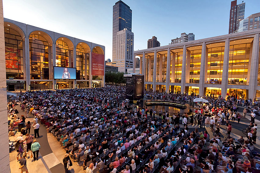 the Metropolitan Opera's Summer Live in HD Festival at the Lincoln Center Plaza, 2011