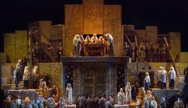 a scene from Verdi's 'Nabucco'