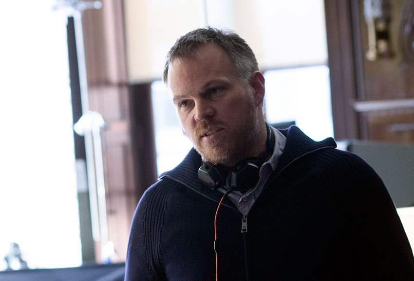 Award-winning director Marc Webb on set of 'The Only Living Boy in New York'