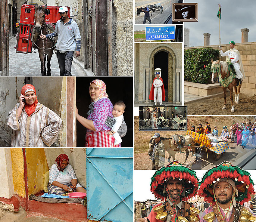 people and scenes from Morocco