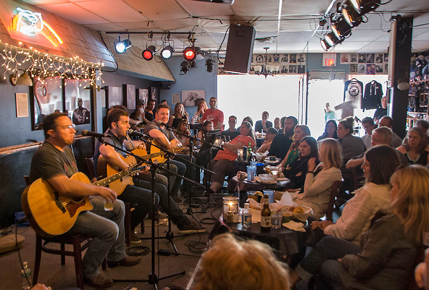 inside the Bluebird Cafe