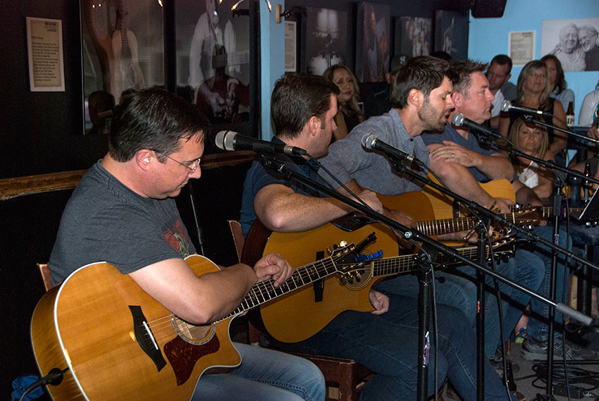 performers inside the Bluebird Cafe