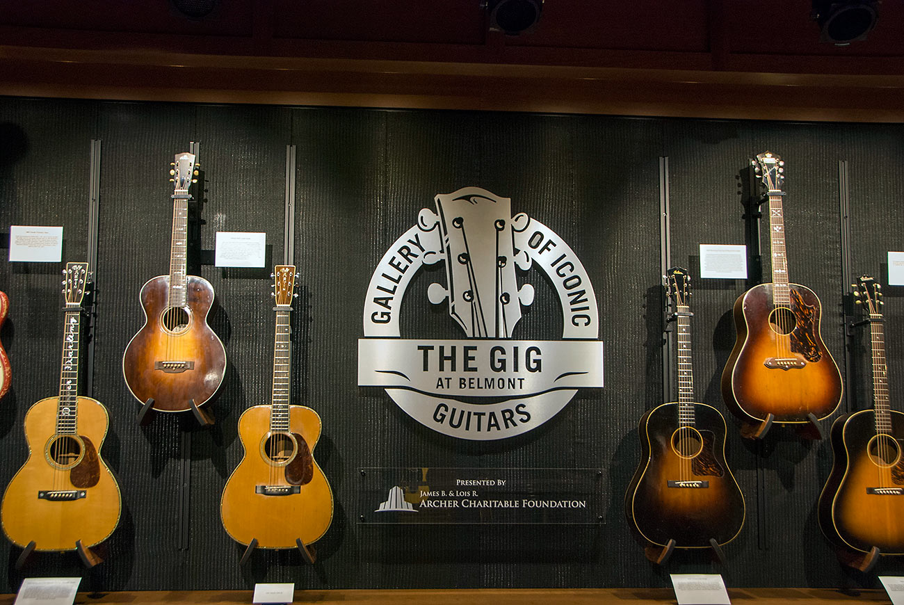 display at the Gig Museum, Nashville