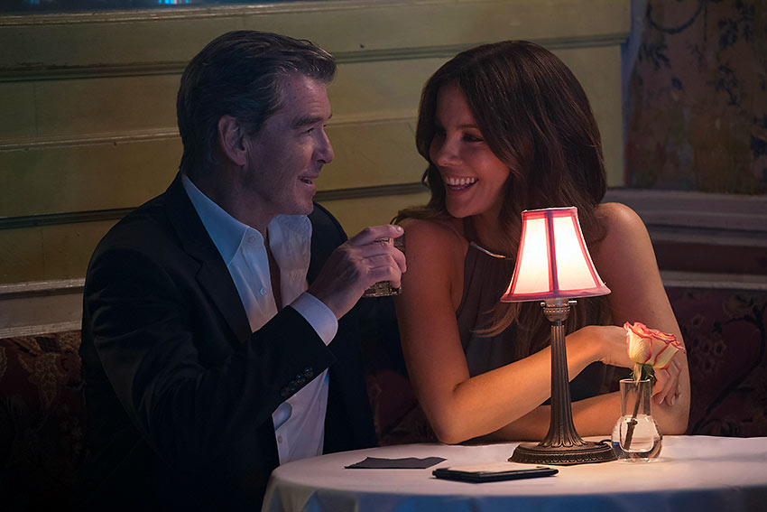 Pierce Brosnan as Ethan with his girlfriend Kate Beckinsale in a scene from 'The Only Living Boy in New York'