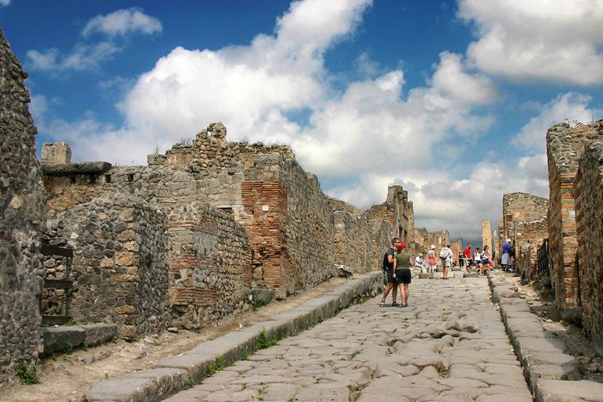 ancient street in Pompeii